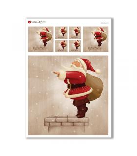 CHRISTMAS-0165. Papel de Arroz Navidad para decoupage.