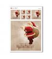 CHRISTMAS-0165. Carta di riso Natale per decoupage.