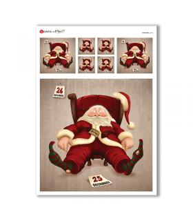 CHRISTMAS-0166. Carta di riso Natale per decoupage.