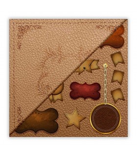LEATHER - 008. Scrapbooking one sheet