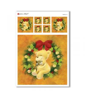 CHRISTMAS-0168. Carta di riso Natale per decoupage.