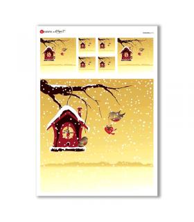 CHRISTMAS-0172. Papel de Arroz Navidad para decoupage.