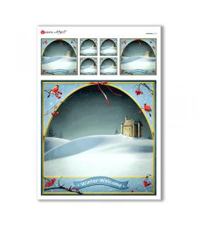CHRISTMAS-0173. Carta di riso Natale per decoupage.