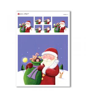 CHRISTMAS-0174. Carta di riso Natale per decoupage.