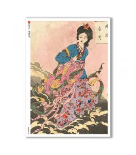 ARTWORK-0090. Carta di riso opere d'arte per decoupage.