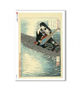ARTWORK-0093. Papel de Arroz obras de arte para decoupage.