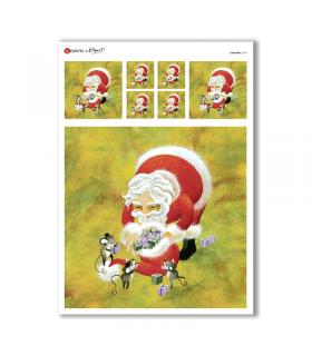 CHRISTMAS-0177. Papel de Arroz Navidad para decoupage.