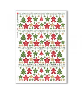 CHRISTMAS-0304. Carta di riso vittoriana Natale per decoupage.