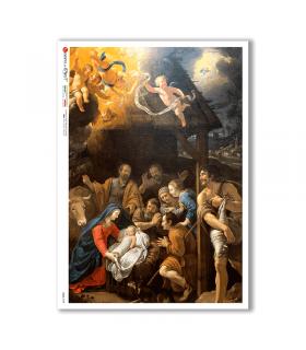 CULT-0145. Papel de Arroz sacras para decoupage.