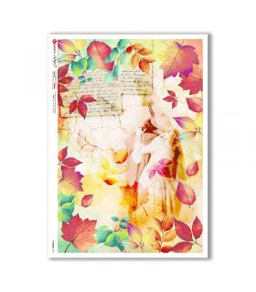 FLOWERS-0339. Papel de Arroz flores para decoupage.