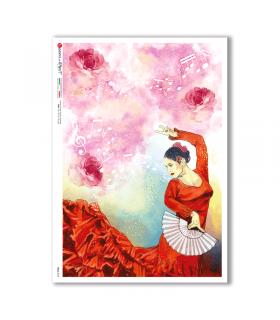 FOLK-0082. Carta di riso etniche per decoupage.