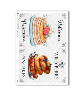 FOOD-0127. Carta di riso cucina per decoupage.