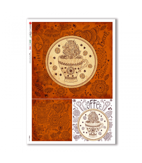FOOD-0129. Carta di riso cucina per decoupage.