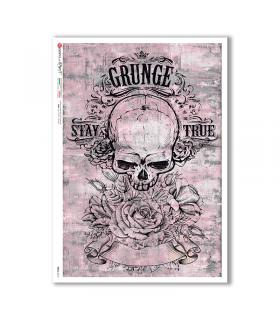 SKULL-0010. Skull Rice Paper for decoupage.
