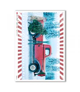 VEHICLES-0031. Carta di riso veicoli per decoupage.