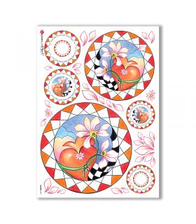 FLOWERS-0072. Carta di riso fiori per decoupage.