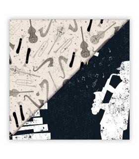 MUSIC - 003. Scrapbooking hoja única