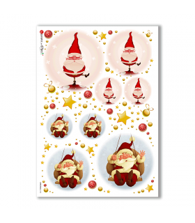 CHRISTMAS-0150. Carta di riso Natale per decoupage.
