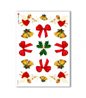 CHRISTMAS-0011. Papel de Arroz Navidad para decoupage.