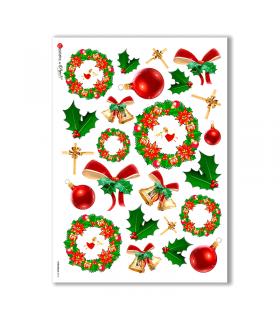 CHRISTMAS-0010. Papel de Arroz Navidad para decoupage.