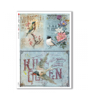 ANIMALS-0140. Carta di riso animali per decoupage.