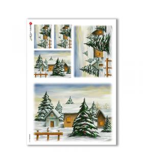 CHRISTMAS-0196. Carta di riso Natale per decoupage.