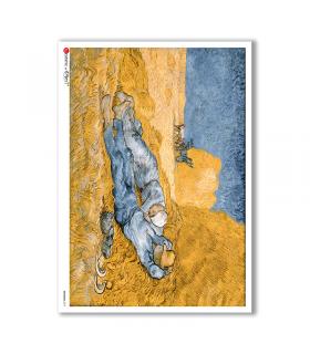 ARTWORK-0097. Carta di riso opere d'arte per decoupage.