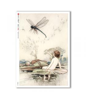 FAIRIES-0069. Rice Paper for decoupage fairies.