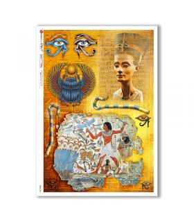 FOLK-0084. Carta di riso etniche per decoupage.