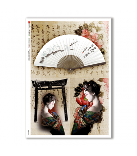 FOLK-0087. Rice Paper ethnic for decoupage.