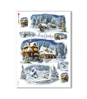 CHRISTMAS-0199. Carta di riso Natale per decoupage.