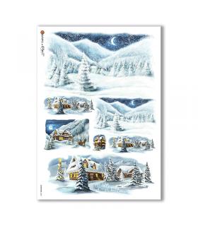 CHRISTMAS-0200. Papel de Arroz Navidad para decoupage.