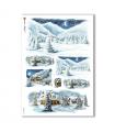 CHRISTMAS-0200. Christmas Rice Paper for decoupage.