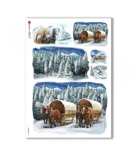 CHRISTMAS-0201. Papel de Arroz Navidad para decoupage.