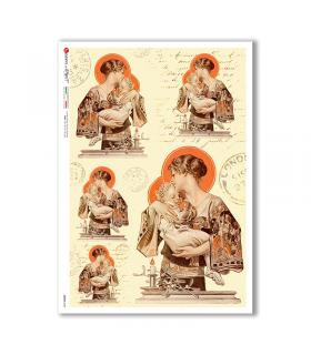 SCENE-0088. Carta di riso pittorico per decoupage.