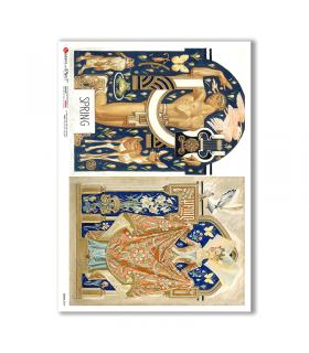 SCENE-0090. Carta di riso pittorico per decoupage.