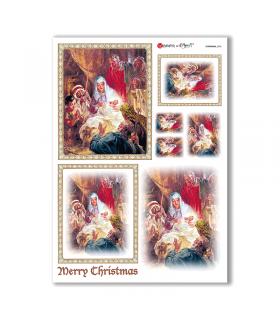 CHRISTMAS-0203. Papel de Arroz Navidad para decoupage.