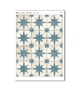 TILES-0036. Papel de Arroz azulejos para decoupage.