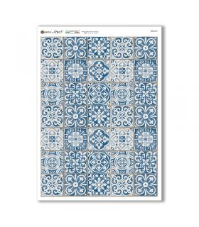 TILES-0037. Papel de Arroz azulejos para decoupage.