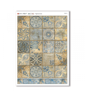 TILES-0038. Papel de Arroz azulejos para decoupage.