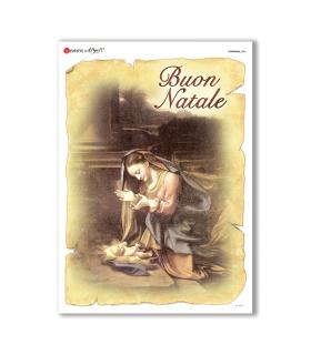 CHRISTMAS-0204. Carta di riso Natale per decoupage.