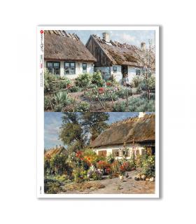 VIEWS-0158. Landscape Rice paper  for the decoupage.