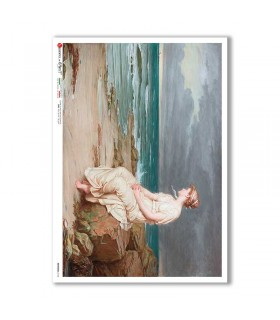 ARTWORK-0103. Papel de Arroz obras de arte para decoupage.