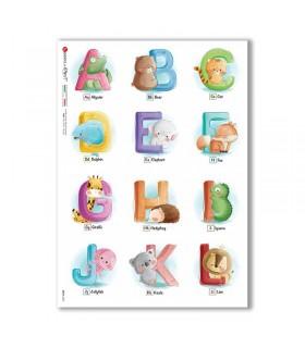 BABY-0083. Carta di riso bambini per decoupage.