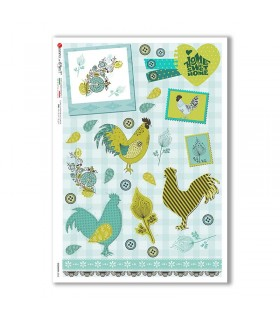 COUNTRY-0065. Papel de Arroz country para decoupage.