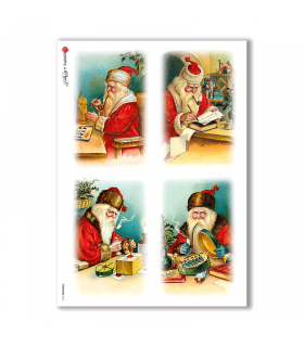 CHRISTMAS-0211. Papel de Arroz Navidad victoriano para decoupage.