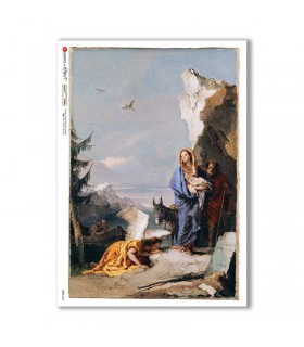 CULT-0157. Papel de Arroz sacras para decoupage.