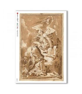 CULT-0158. Papel de Arroz sacras para decoupage.