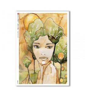 FAIRIES-0079. Rice Paper for decoupage fairies.
