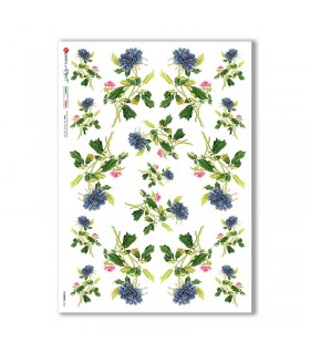 FLOWERS-0366. Carta di riso fiori per decoupage.